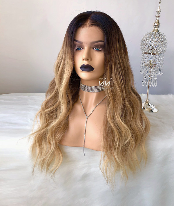 Quot Glory Quot Blonde Wig With Dark Roots Online Human Hair