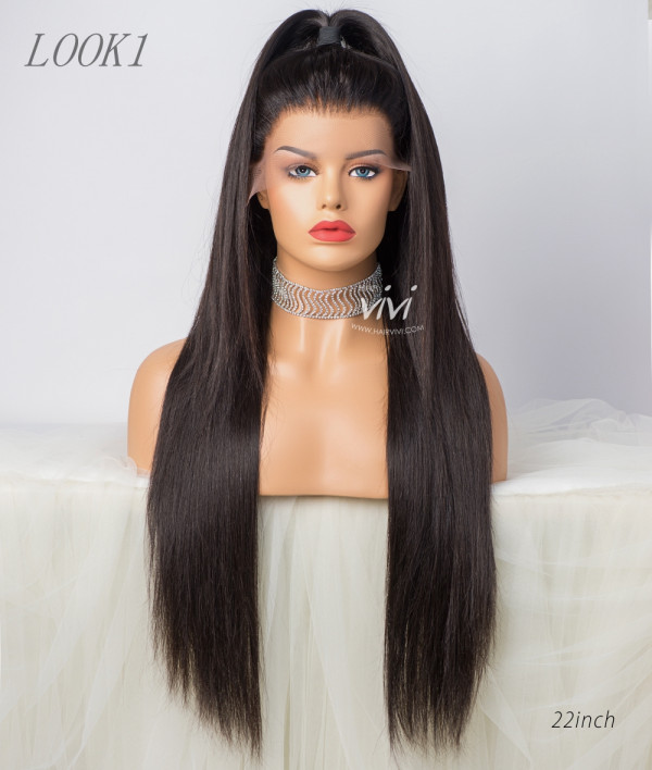 e809011f26d Victoria Pre-plucked Front Lace Wig Straight Human Hair