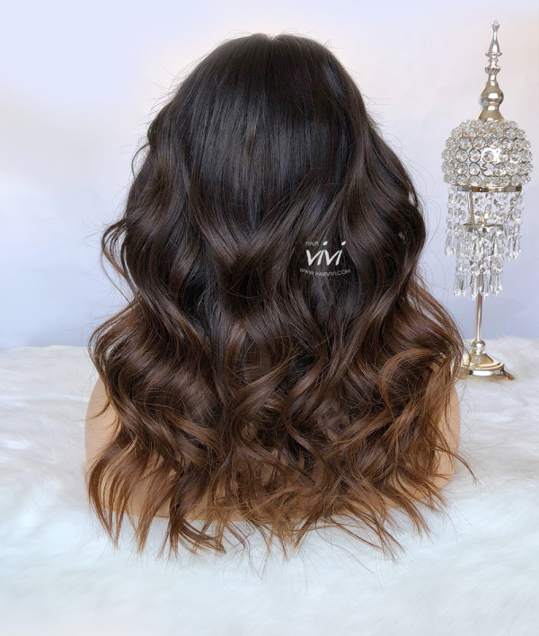 Quot Sacha Quot Ombre Brown Lace Front Wig Online Human Hair
