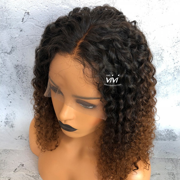 Serayah Ombre Curly Wig Lace Front Virgin Hair Thick Ends