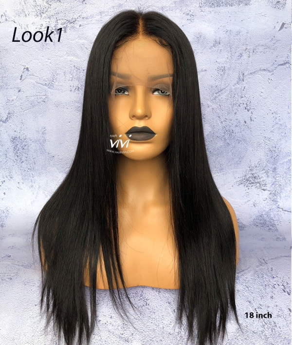 Pre Plucked 360 Lace Frontal Wig Straight Indian Virgin Hair
