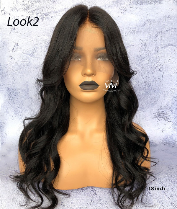 edd79f31074 Pre-plucked 360 Lace Frontal Wig Straight Virgin Human Hair