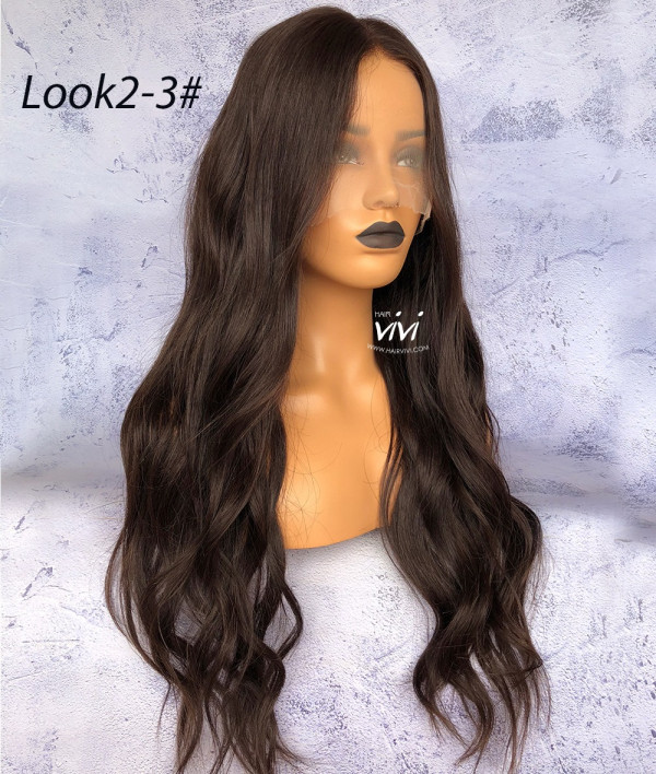 Victoria Pre Plucked Front Lace Wig Straight Human Hair