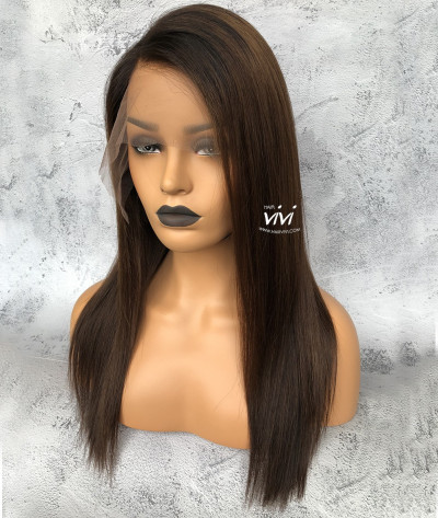 keke palmer medium length straight glueless lace wig 150